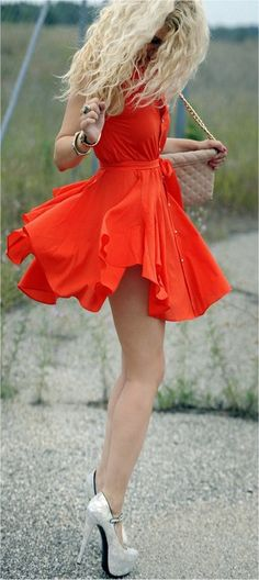 Pretty Orange/red dress