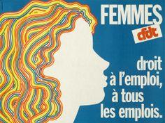 Droit à l'emploi pour les femmes Affiche CFDT 1975