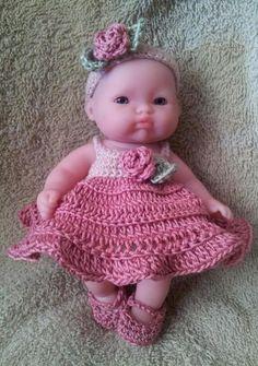 Rosebud Dress Set for 5 Inch Berenguer