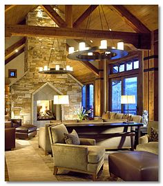 Living Room Rocky Mountain Residence