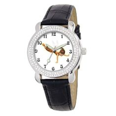 "Disney Kids' D2125S025 Tween Fawn ""Shimmer"" Black Leather Strap Watch Disney. $15.87. Fawn fairies dial surrounded by a Rhinestone-accented bezel and covered by Durable mineral crystal. Water-resistant to 99 feet (30 M). Black leather strap with buckle. Quality and precise Japanese-quartz movement. Watch fits a girl or a woman"