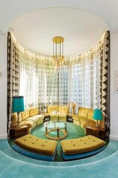 1000 images about sunk in room ideas on pinterest - Circular living room design ...