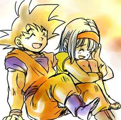 Goku and Bulma #DBZ