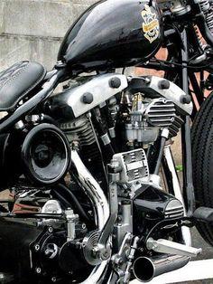 Kult Of Kustom added a new photo. Cheap Motorcycles, Vintage Motorcycles, Custom Motorcycles, Custom Bikes, Harley Bobber, Harley Bikes, Bobber Chopper, Bobber Bikes, Hd Vintage