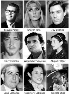 "Manson Family Murder Victims.  Morgue records were filed under ""Parent"" for Steven Earl Parent for the Cielo murders since he was the first victim found but so many forget him- he was so young and his funeral was hardly covered by the press.  All of these people paid such a dear price.  May they be at peace."