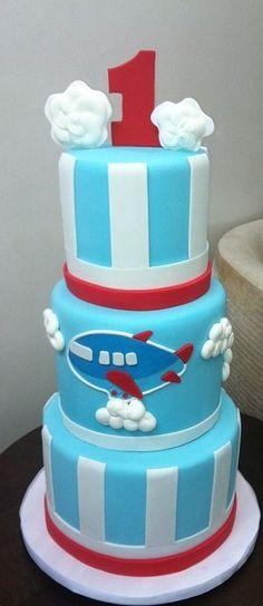 1 st birthday cake, boy.