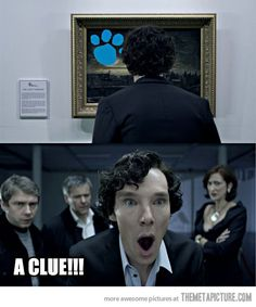 Sherlock found a clue!