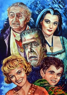 Herman Munster, Munsters Tv Show, The Munsters, Lily Munster, Cult Movies, Horror Movies, La Familia Munster, Yvonne De Carlo, Horror Artwork
