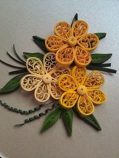 ** Quilling květiny **