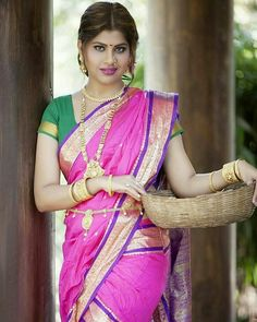 Exclusive stunning photos of beautiful Indian models and actresses in saree. Beautiful Girl Indian, Most Beautiful Indian Actress, Beautiful Saree, Beauty Full Girl, Beauty Women, Marathi Saree, Marathi Nath, Stylish Girl Images, Beautiful Bollywood Actress