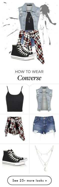 Grunge Style by riddle-me-this07 on Polyvore featuring Topshop, Charlotte Russe and Converse