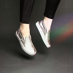 SCHUH: Vans Classic Slip Trainers Move into the future in these space age metallic slips. Available in sizes 3 to Vans Classic Slip On, Trainers, Studs, Loafers, Metallic, Sneakers, Space Age, Leather, March