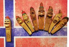 Norwegische Nussknacker aus der Sammlung Roland Paireder im Nusseum in Krummnußbaum. Wal, Nutcrackers, Norway, Antiquities