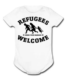 Refugees Welcome Bring your families One Piece