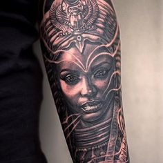 Leading Tattoo Magazine & Database, Featuring best tattoo Designs & Ideas from around the world. At TattooViral we connects the worlds best tattoo artists and fans to find the Best Tattoo Designs, Quotes, Inspirations and Ideas for women, men and couples. Ankh Tattoo, Sphinx Tattoo, Nefertiti Tattoo, Dope Tattoos, Trendy Tattoos, Black Tattoos, Body Art Tattoos, Sleeve Tattoos, Arm Tattoos