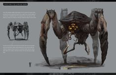 ArtStation - Alien Bugs design 04, longque Chen