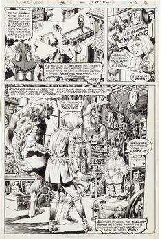 """Bernie Wrightson Swamp Thing #6 """"A Clockwork Horror"""" Page 6"""