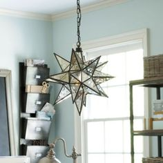 Moravian Star Pendant from Ballard Designs. Saved to BC house . Shop more products from Ballard Designs on Wanelo. Home Decor Lights, Home Lighting, Pendant Lighting, Office Lighting, Bedroom Lighting, My Home Design, House Design, Chandeliers, Star Ceiling