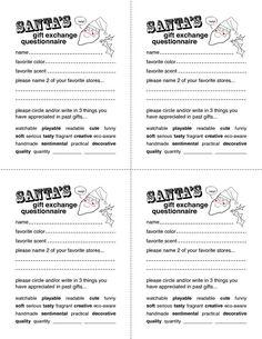 Secret Santa Questionnaire TemplateChristmasflyerJpg  Letter