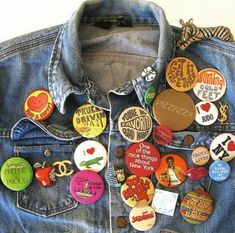 Buttons and Pins - Vintage Fashion Inspiration.but with band pins of course! 89c42707797