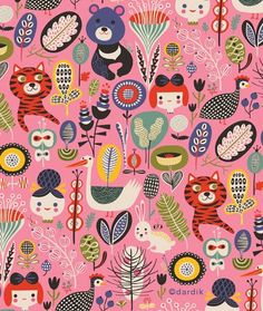 """Favorite pattern by our artist Helen Dardik who writes """"Working on a few projects I cannot show for quite some time. so, no time to paint today. but I can show you my favourite pattern:). Illustration Arte, Magazine Illustration, Surface Pattern Design, Pattern Art, Textile Patterns, Print Patterns, Illustrator, Blog Deco, Art Design"""