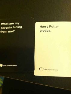 This horrifying possibility. | 21 Hilarious, Awkward, And Painful Rounds Of Cards Against Humanity