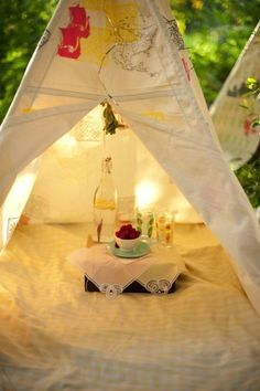 tea party in the tent :)