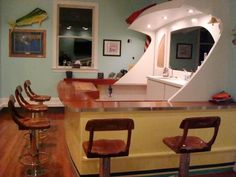 Home bar that looked like a boat transom - The Hull Truth - Boating and Fishing Forum