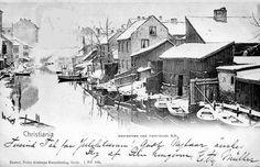 Christiania Akerselva ved Vaterlands bro pg. 1904 Foto: P. Alstrups kunstforlag