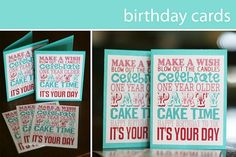 Cute Printable Birthday Cards They Have A Boy Version Too Free