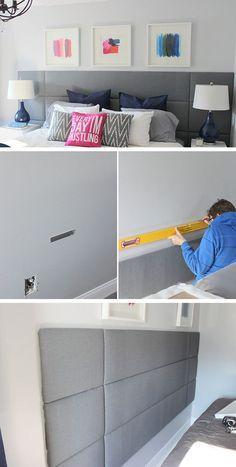 How to build a Focal Wall Headboard | Click for 18 DIY Headboard Ideas | DIY Bedroom Decor Ideas on a Budget