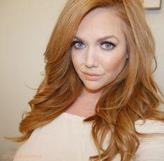 peach makeup | strawberry blonde hair + girlgetglamorousHAIR extensions