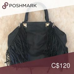 Snap enclosure , small zipper pocket inside with 2 small cellphone pockets as well Rebecca Minkoff Bags Shoulder Bags Fringe Bags, Leather Fringe, Rebecca Minkoff, Shoulder Bags, Zipper, Pockets, Best Deals, Closet, Things To Sell
