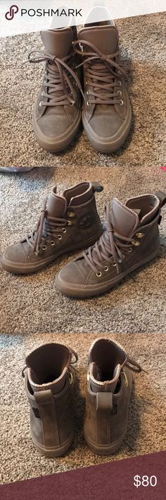 Converse Women Chuck Taylor Allstar Waterproof NEVER worn. Bought these for $141 off of Zappos. Currently out of stock. Converse Shoes Sneakers