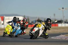 Racing Lambretta's and a Vespa http://mbseriousoutdoors.co.uk