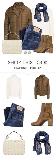 """Untitled #1554"" by gallant81 ❤ liked on Polyvore featuring Duvetica, Diesel, L'Autre Chose, Valentino, MANGO and Auriya"