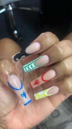 Classy Acrylic Nails, Acrylic Nails Coffin Pink, Cute Acrylic Nail Designs, Square Acrylic Nails, Acylic Nails, Funky Nails, Neutral Nails, Fire Nails, Dream Nails