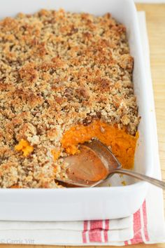 Sweet Potato Casserole via DeliciouslyOrganic.net #paleo #grainfree
