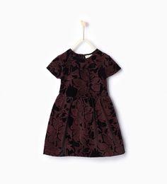 Image 1 of Velvet jacquard dress from Zara