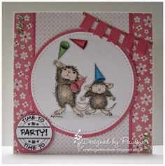 House-Mouse & Friends Monday Challenge: Die-Cuts and/or Punches for Challenge #HMFMC172