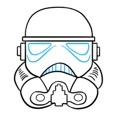 Learn to draw a stormtrooper helmet. This step-by-step tutorial makes it easy. Kids and beginners alike can now draw a great looking stormtrooper helmet. Learn To Draw, Disney Art, Easy Drawings, Helmet, Star Wars, Activities, Stars, Movies, Kids