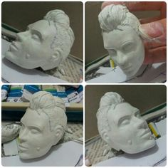 clara lille watchdogs havker diy minature project...  improved head sculp... wip stay tune for more...