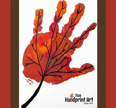 Handprint Leaf for September - Handprint Calendar - Fun Handprint Art September Art, September Crafts, Fall Arts And Crafts, Fall Crafts For Kids, Art For Kids, Kids Crafts, Kids Fun, Calendar Ideas For Kids To Make, Activities For Kids