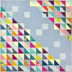 I'm excited to share one of my latest quilt finishes with you today. It's called HST and the pattern can be found in the current issue (#5) of Make Modern Magazine. HST designed, piece…