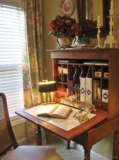 Masculine Office Decoration Ideas For Men Who Live In . 10 DIY Kids' Desks For Art Craft And Studying Shelterness. How To Organize Your Home Office: 54 Smart Ideas DigsDigs. Home and Family Home Interior, Interior Design, Antique Interior, English Country Decor, English Cottage Style, Antique Desk, Antique Writing Desk, Antique Furniture, Secretary Desks