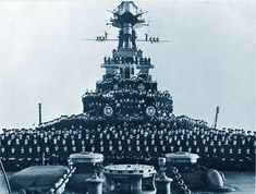 The crew of 15 in battlecruiser HMS Hood, pictured in Only three of her complement of survived the encounter with Bismarck on 24 May Hms Hood, Military Drawings, Capital Ship, Arizona, Navy Ships, Royal Navy, War Machine, Battleship, Military History