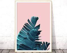 Banana Leaf, Banana Leaf Print, Botanical Print, Tropical Print, Plant Prints, Palm Tree Print, Palm Print, Printable Art, Nature Prints