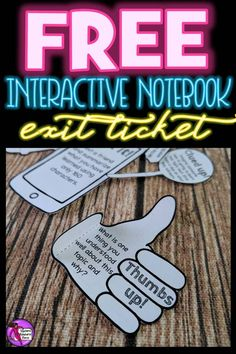 "Exit tickets are a fantastic way of testing understanding, but oftentimes we never keep the evidence of them as they're done on post-its, verbally or on wipe off surfaces. However, with these interactive notebook exit tickets, students can show their learning and keep them all year long! Great for them, and great for when you want to demonstrate progress in your classroom too! You can get this for free right now by clicking the ""visit site"" button! School Resources, Teacher Resources, Teacher Pay Teachers, Exit Tickets, Secondary Teacher, Arts Integration, Teaching Strategies, Teaching Ideas, Interactive Notebooks"