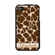 giraffe animal print iphone case 4g speckcase