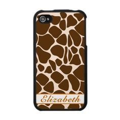 giraffe animal print iphone case 4g speckcase